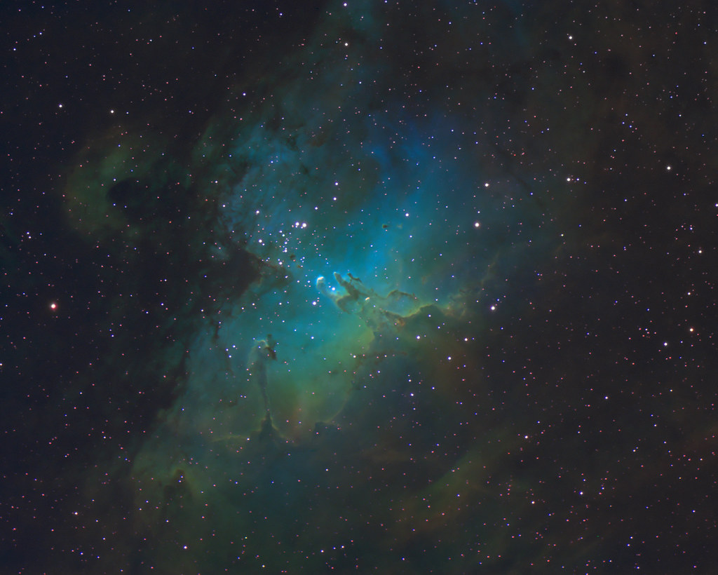 First try at HST processing M16 - Eagle nebula