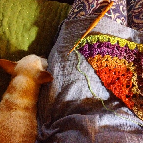 Happy to be home and hooking... #crochet #wingfeathersshawl | by hodge podge farm