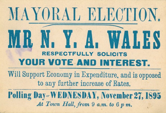 Voting Card for NYA Wales 1895