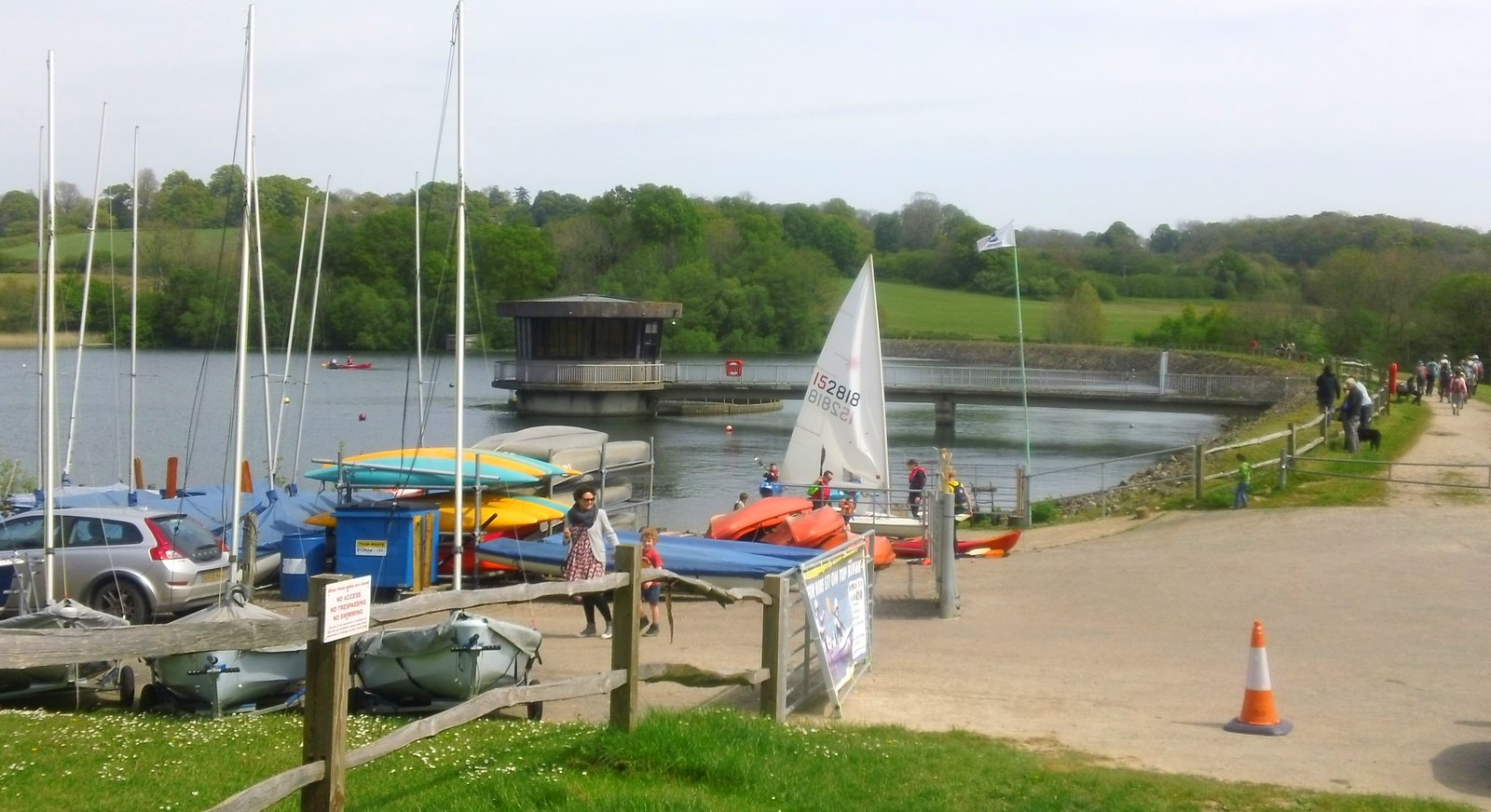 Reservoir dogs, walkers, sailing and other activities Ardingly, Sussex
