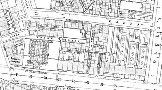 Oakes Street/Pembroke Place, Liverpool 3. 1847 OS map (original in LRO). | by philipgmayer