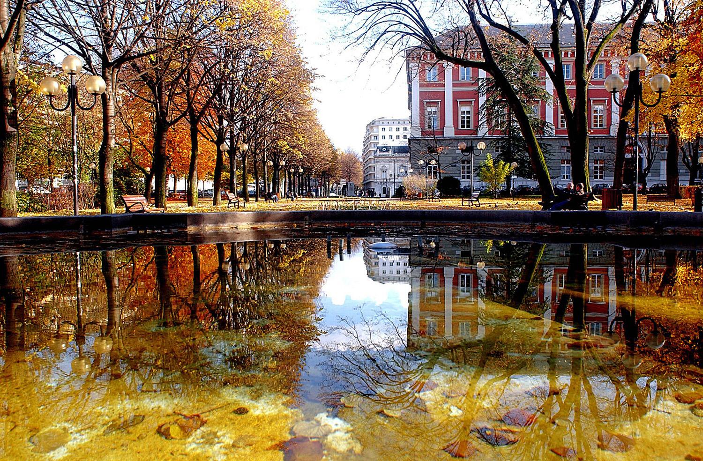 Bassins du Parc du Verney à l'automne