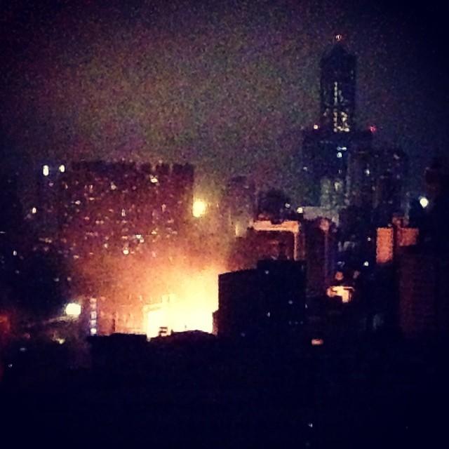 難過的一夜。高雄市前所未有的災難。 Sad night. Kaohsiung city unprecedented disaster.