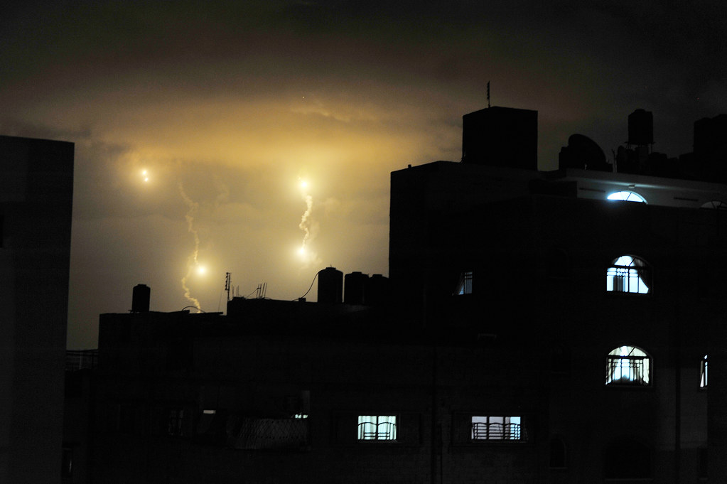 Gaza City Night Sky during Hostilities