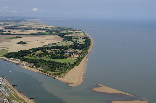 Bawdsey Manor and the mouth of the River Deben aerial | by John D Fielding