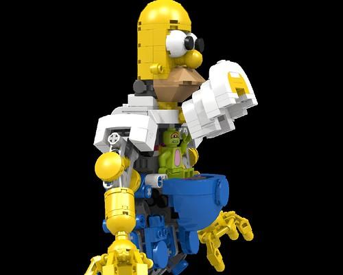 LEGO Exo Homer - cockpit