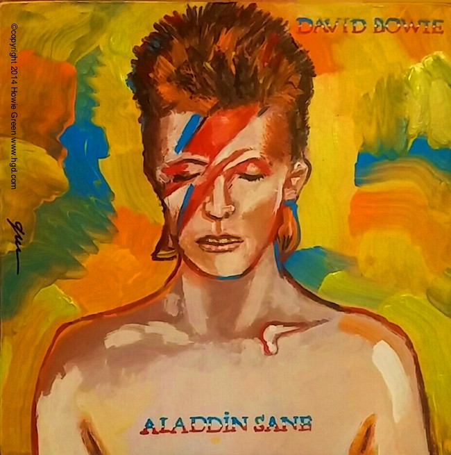 David Bowie Aladdin Sane album cover art painting | From my