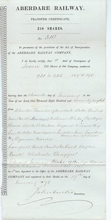 Aberdare Railway share transfer certificate 1878 | by ian.dinmore