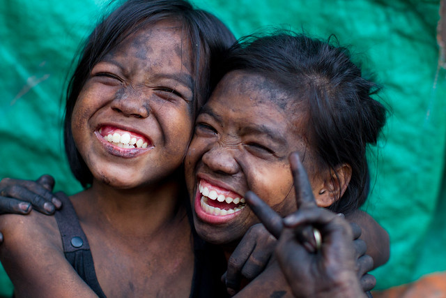 Smiling Charcoal Girls