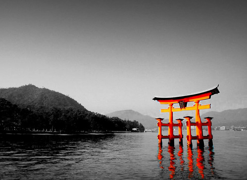 Torii Gate at Itsukushima Shrine | by Photographing Travis