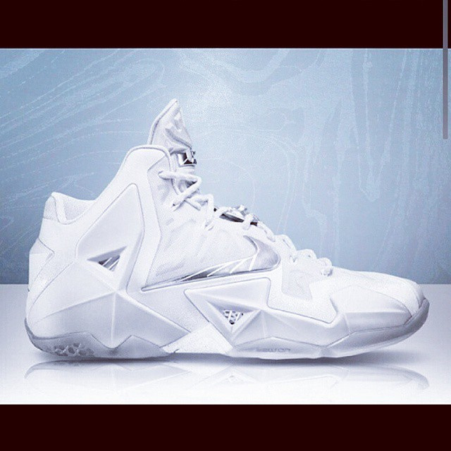 e9d38ab90bd9 ...  Lebron11  LJ  James  LebronJames  allwhite  white  shoes