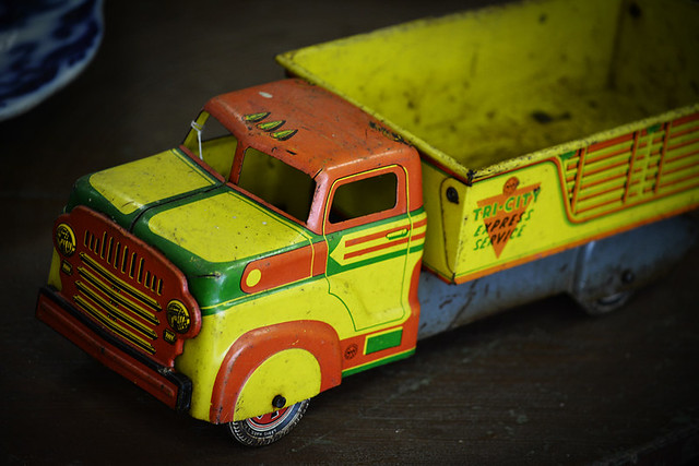 Rusty Old Tin Toy Truck
