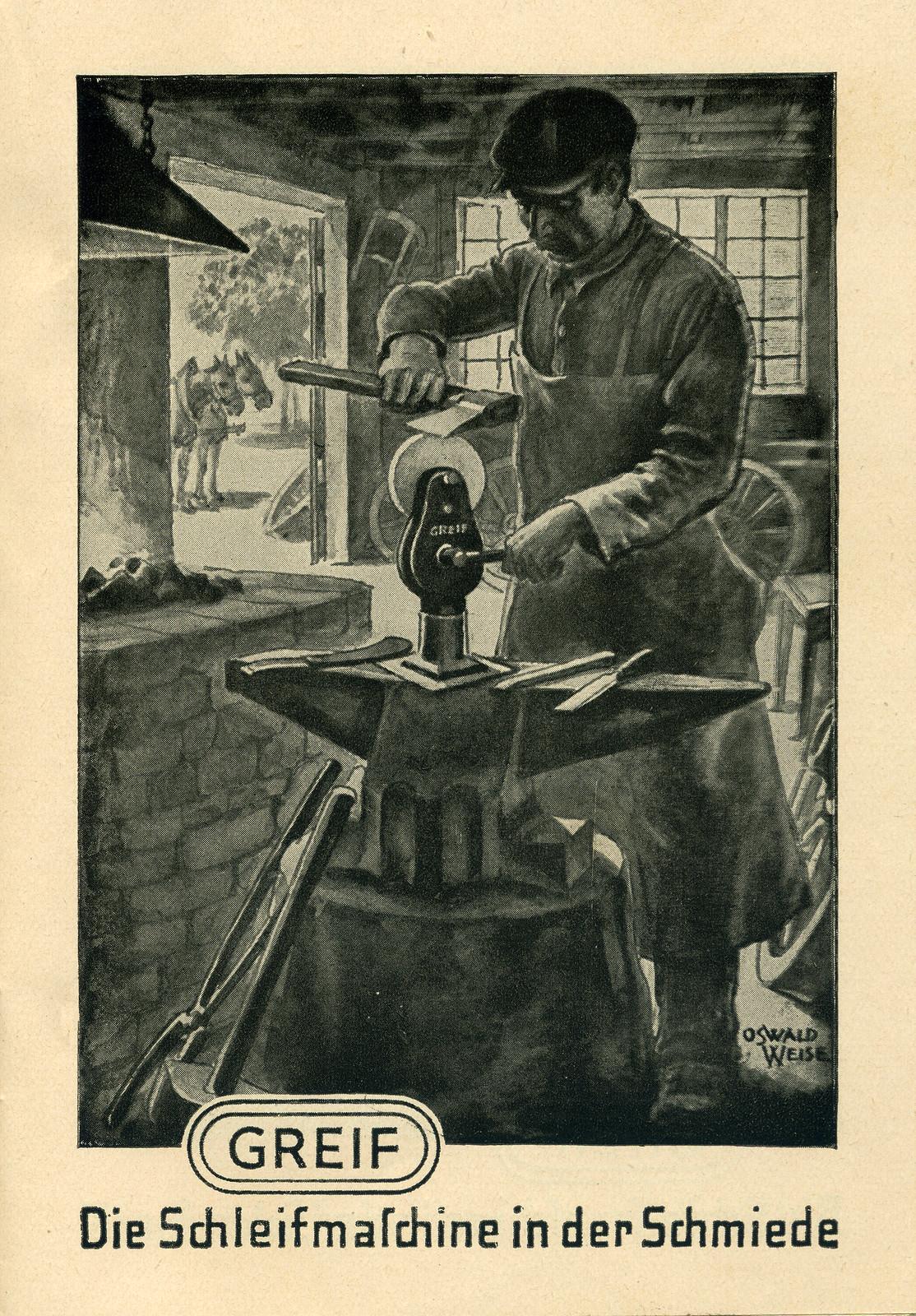 Werbeheftchen für Greif Schleifmaschinen, Bild 3