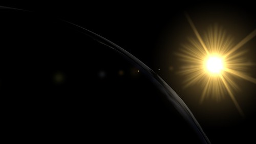 Sun glow near Earth | by Celestinia Universe