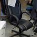 Black leatherette high back swivel chair