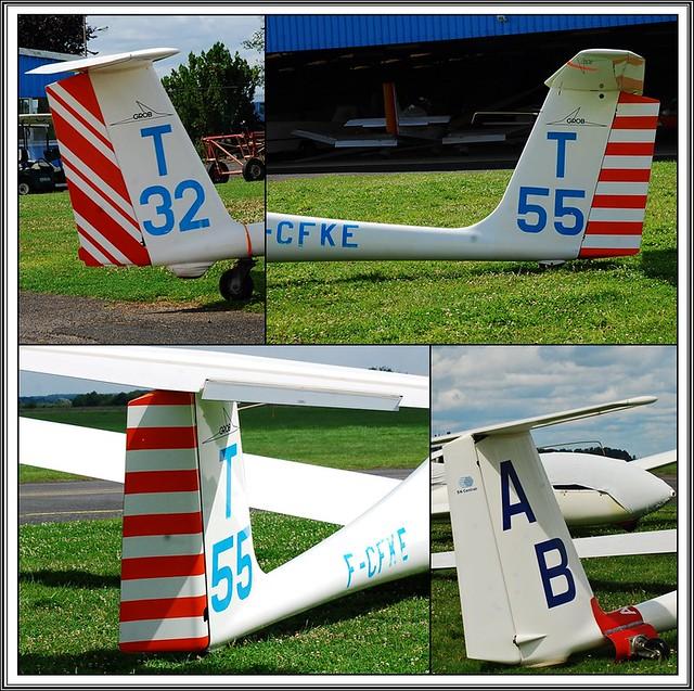 13 - Aérodrome de Coulommiers-Voisins Association Aéronautique de Coulommiers et Meaux Club de vol à voile Planeurs Immatriculations