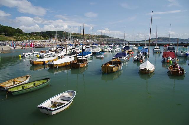 Lyme Regis - boats at rest