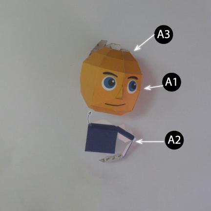 วิธีทำของเล่นโมเดลกระดาษกับตันอเมริกา (Chibi Captain America Papercraft Model) 002