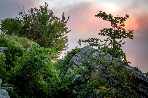 park lake rock fog sunrise dawn bethany boulder falls mo missouri limestone fleming jacomo lakejacomo flemingpark