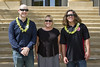 UH Maui College's nursing program staff with student veteran scholarship recipients