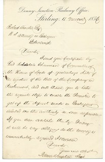 Denny Junction Railway Letterhead 1856 | by ian.dinmore