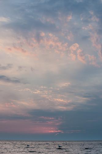 sunset lake water rock lakehuron kettlepoint
