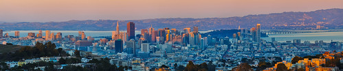 sanfrancisco california city sunset urban color skyline nikon view over stitched mtdavidson 2014 d700