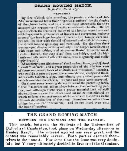 10th June 1829 - First Oxford v Cambridge boat race | by Bradford Timeline