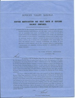 Denburn Valley Railway Notice to Treat 1863 | by ian.dinmore