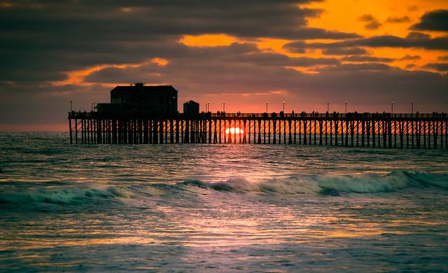 Oceanside Sunset Friday Evening