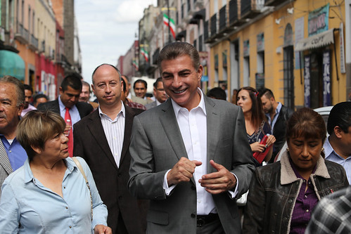 Andrés Manuel Lopez Obrador en Puebla