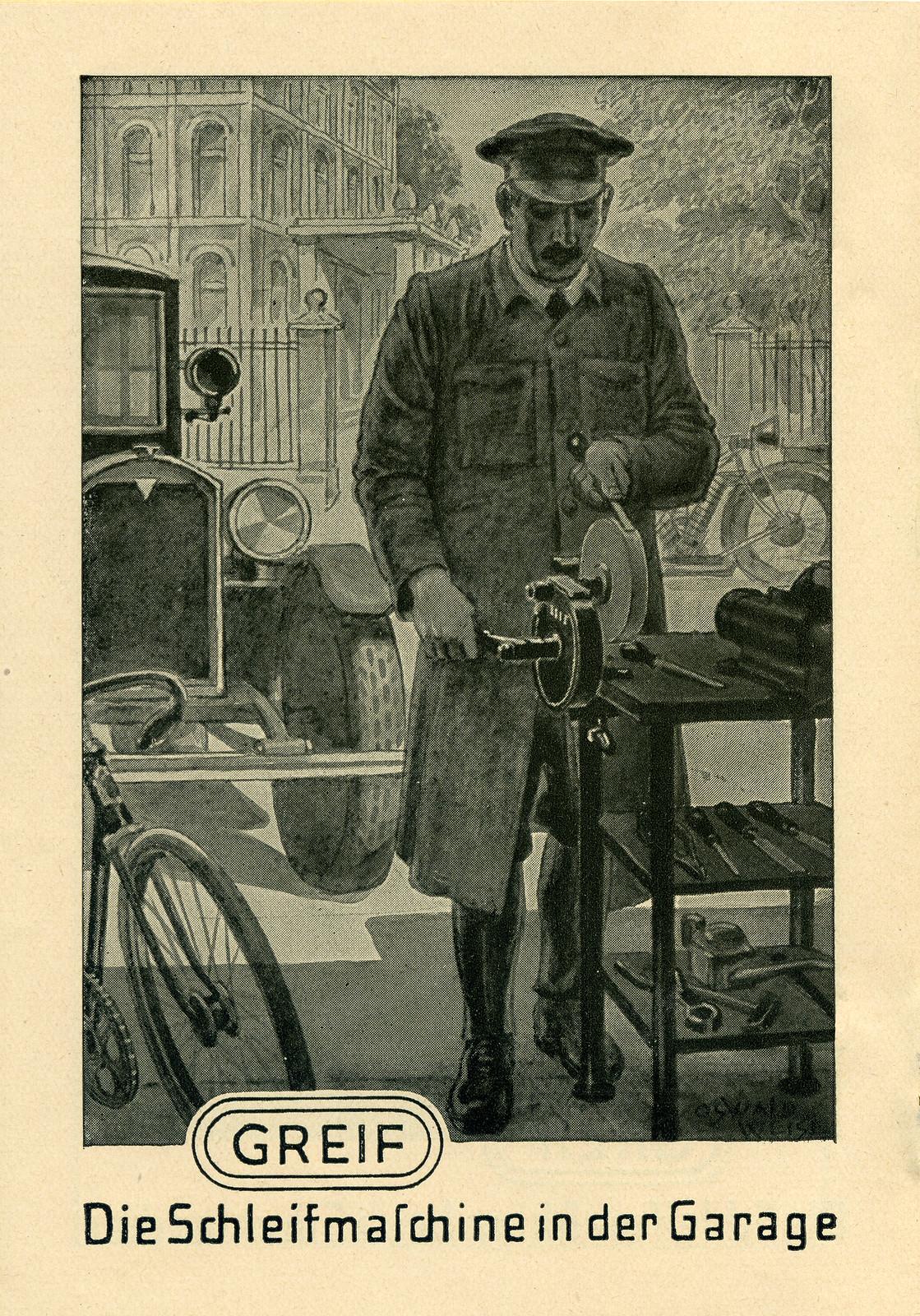 Werbeheftchen für Greif Schleifmaschinen, Bild 7