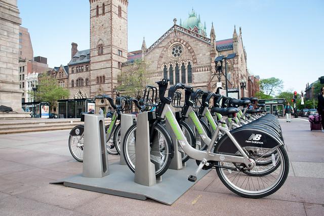 Hubway Bikes at Copley Square - Boston
