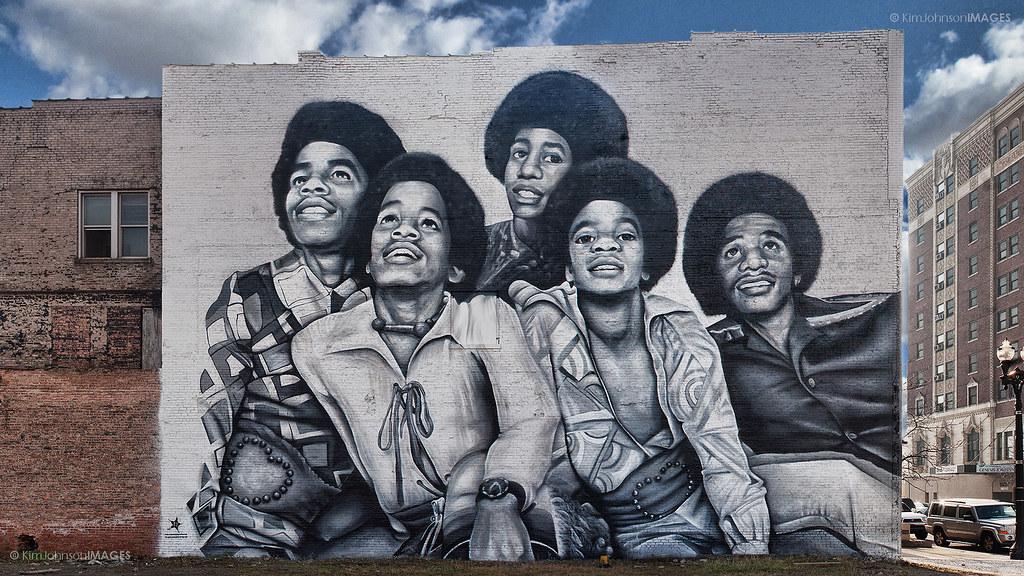 Risultati immagini per gary jackson 5 mural