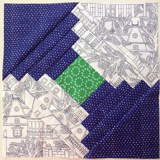 August #havendgs block 2 tutorial up on my blog, link in profile.  Some of my favorite fabrics ever 💚💙