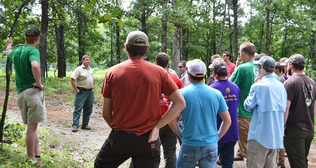 TN Tech Students with FS Staff Learning about Range Management at the EBP