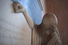 Grief on the memorial to Mary Andalusia, Baroness Rendlesham
