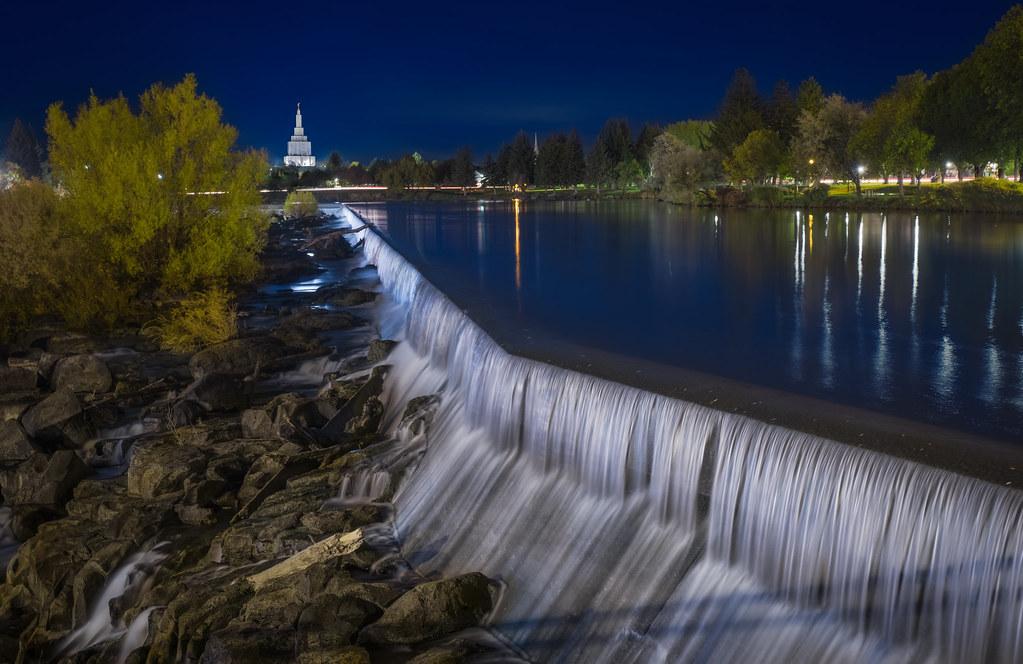 Idaho Falls & Blue Hour | Idaho Falls at the blue hour