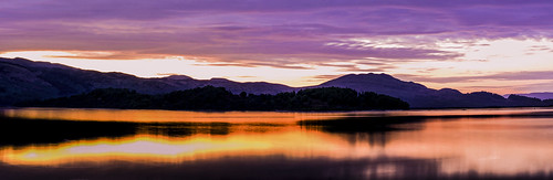 reflection sunrise loch lomond lochlomond