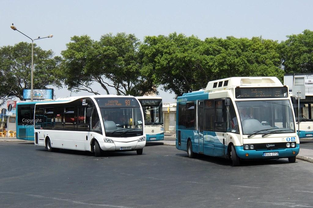 BUS 341 and BUS 273 - Malta Public Transport Optare Solo v