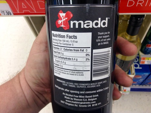 MADD, Mother's Against Drunk Driving Virgin Alcohol Free Wine   by JeepersMedia