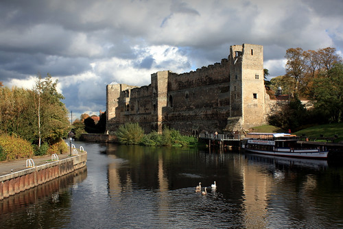 uk travel england reflection building heritage water clouds canon river photography boat ruins britain historic norman prison swans gb newark fortress remains nottinghamshire eastmidlands newarkontrent trentriver newarkcastle 450d pietkagab