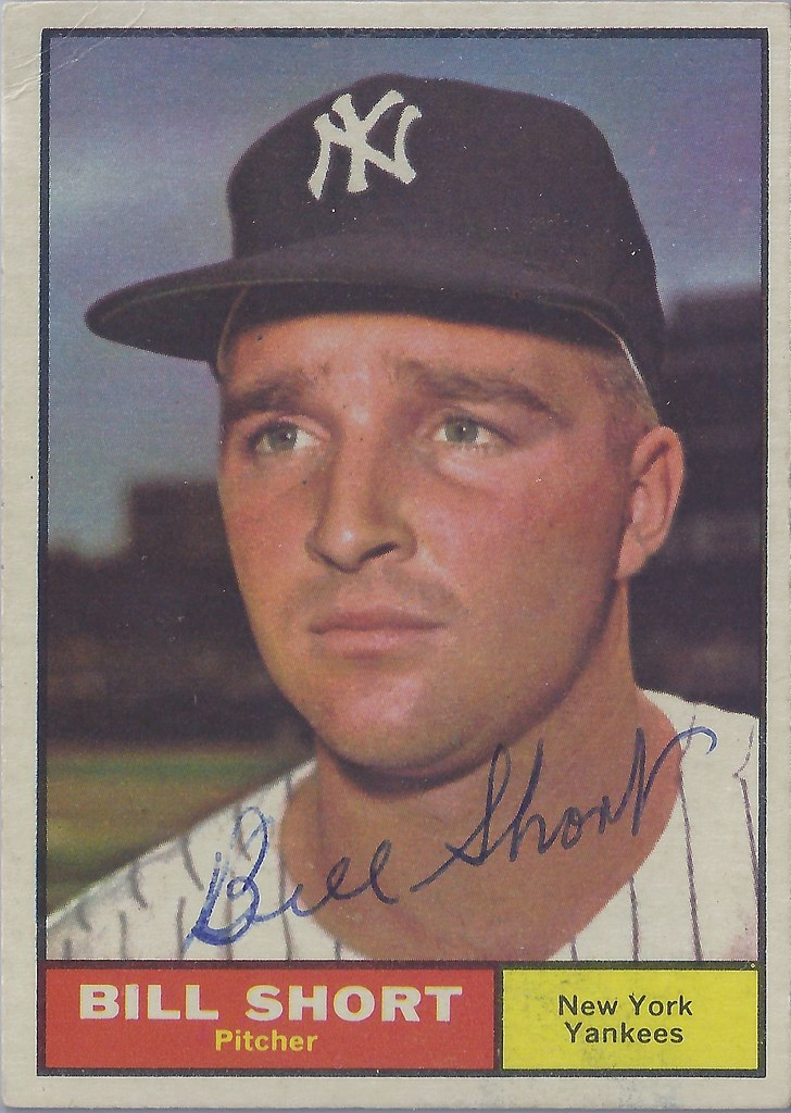 1961 Topps - Bill Short #252 (Pitcher) - Autographed Baseb… | Flickr