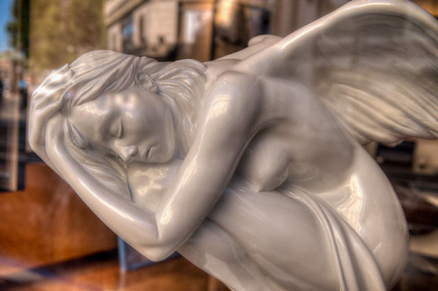 un ange dans la vitrine