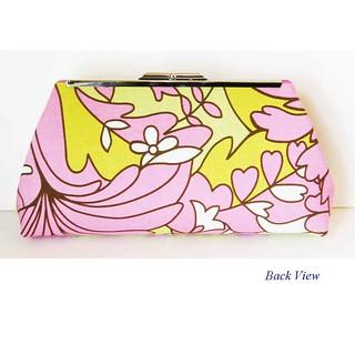pink white blossom backview