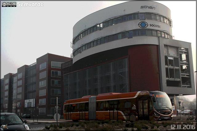 Iveco Bus Créalis 18 GNC - Setram (Société d'Économie Mixte des TRansports en commun de l'Agglomération Mancelle) n°304