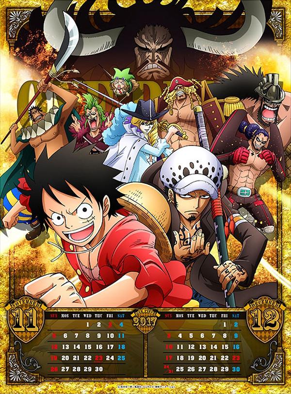 Photosi Calendario.One Piece Calendar Calendario 2017 6 Novembro Dezembro