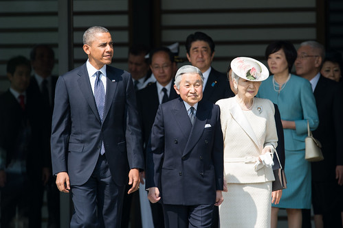 President Obama at the Welcome Ceremony in Japan   by East Asia and Pacific Media Hub