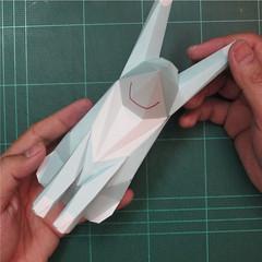 วิธีทำโมเดลกระดาษคุกกี้รันจิ้งจอกเก้าหางในร่างหมาจิ้งจอก (Cookie Run Ninetails Fox Form Papercraft Model) 013