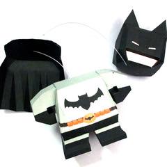 วิธีทำโมเดลกระดาษแบทแมน (Batman Papercraft Model) 022
